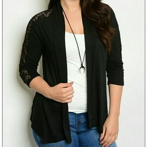 Open Cardigan with Lace
